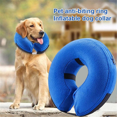 Pet Dog Collar Inflatable Anti-Bite Recovery Neck Protector Surgery Cone