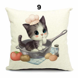 Pillow Cover - Teacup Cat Pillow Covers