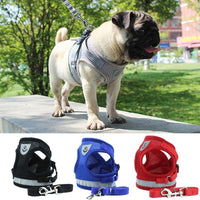 Load image into Gallery viewer, Reflective Safety Pet Dog Harness And Leash Set For Small Medium Dogs Cat Harnesses Vest Puppy Chest Strap Pug Chihuahua Bulldog