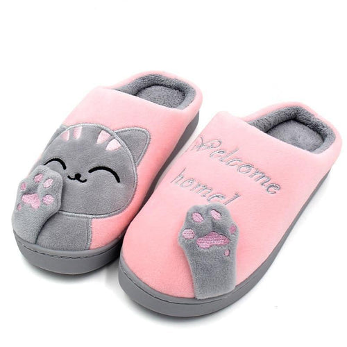 Squishy Cat Slippers
