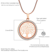 Load image into Gallery viewer, Tree Of Life Hot Crystal Round Small Pendant Necklace
