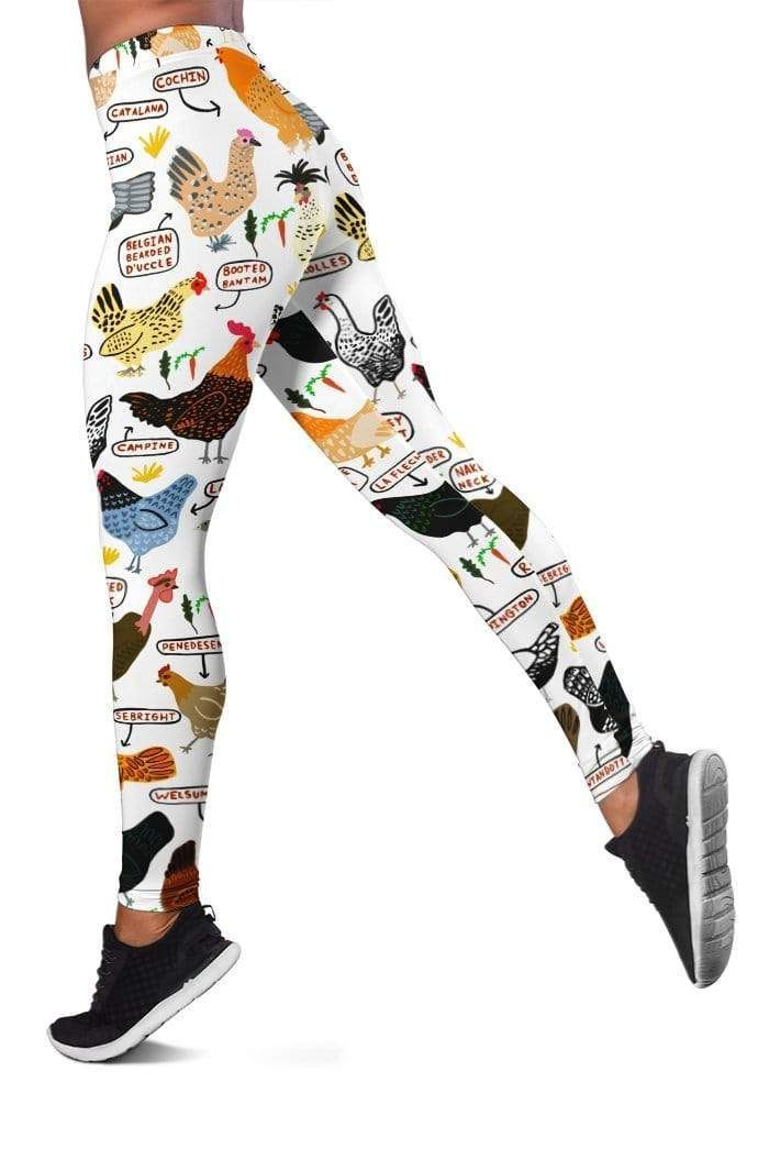 Chicken Breeds Full-print Leggings