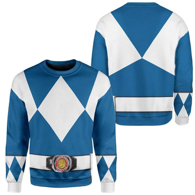 Cosplay Blue Power Ranger Custom T-Shirts Hoodies Apparel HD-QM0102204 3D Custom Fleece Hoodies