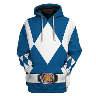 Cosplay Blue Power Ranger Custom T-Shirts Hoodies Apparel HD-QM0102204 3D Custom Fleece Hoodies Hoodie S