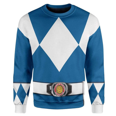 Cosplay Blue Power Ranger Custom T-Shirts Hoodies Apparel HD-QM0102204 3D Custom Fleece Hoodies Long Sleeve S