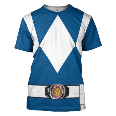 Cosplay Blue Power Ranger Custom T-Shirts Hoodies Apparel HD-QM0102204 3D Custom Fleece Hoodies T-Shirt S