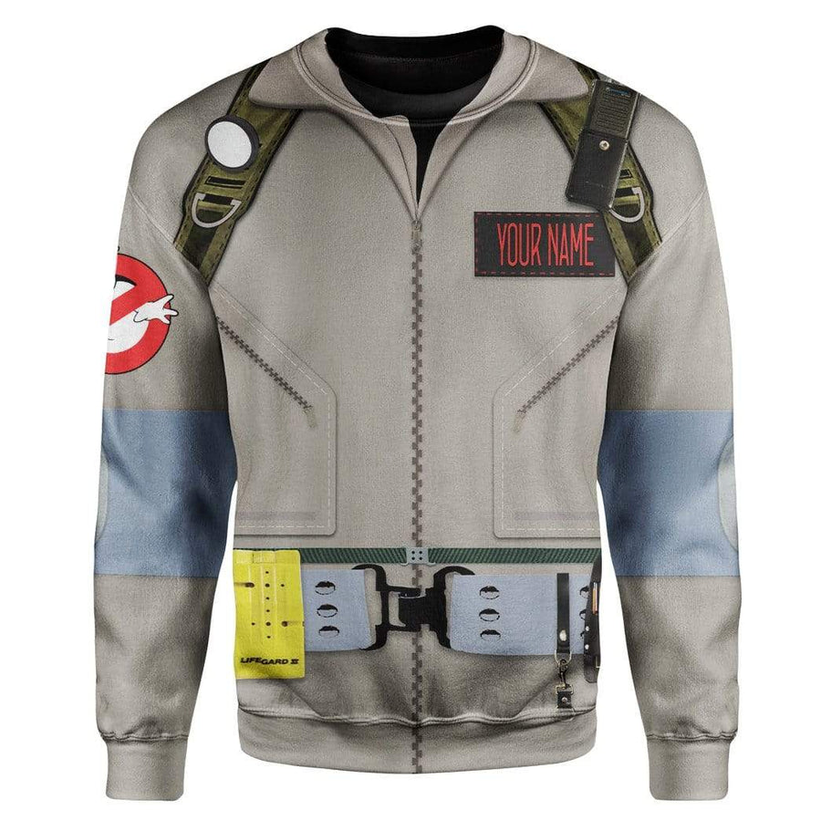 Cosplay Ghostbusters Custom Name T-Shirts Hoodies Apparel T10121 3D Custom Fleece Hoodies Hoodie S