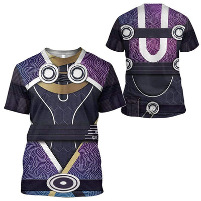 Cosplay Mass Effect Tali Vas Normandy Custom T-Shirts Hoodies Apparel CO-AT0702201 3D Custom Fleece Hoodies