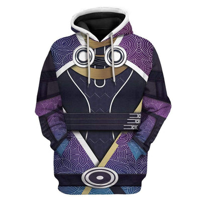 Cosplay Mass Effect Tali Vas Normandy Custom T-Shirts Hoodies Apparel CO-AT0702201 3D Custom Fleece Hoodies Hoodie S