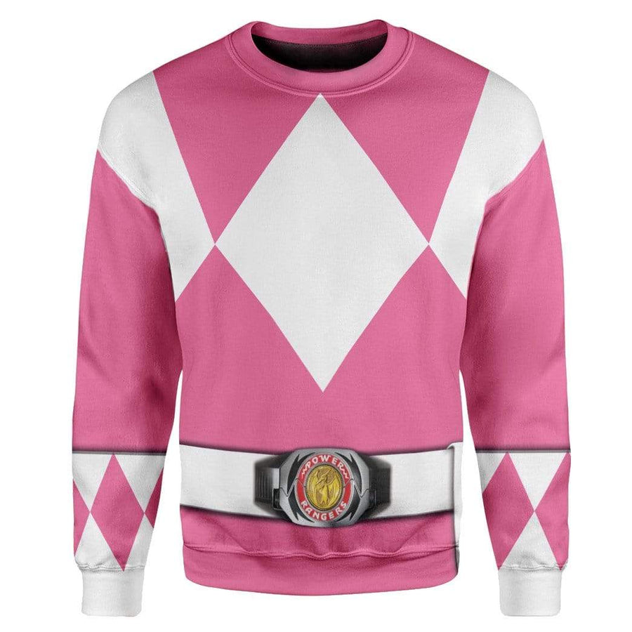 Cosplay Pink Power Ranger Custom T-Shirts Hoodies Apparel H01025 3D Custom Fleece Hoodies Hoodie S