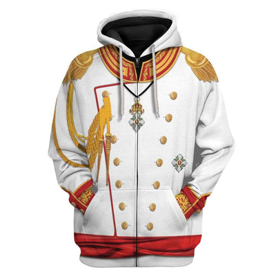 Cosplay War and Peace Prince Andrei Custom T-Shirts Hoodies Apparel CO-TA0702207 3D Custom Fleece Hoodies Zip Hoodie S