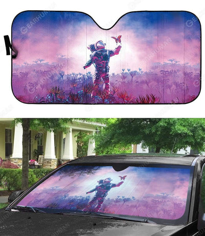 Custom Car Auto Sunshade Astronaut And Butterfly HD-AT0391916-SS Auto Sunshade