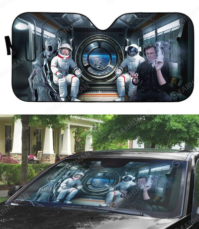Custom Car Auto Sunshade Elon Musk And Astronauts HD-DT2481919-SS Auto Sunshade