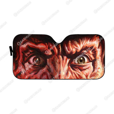 Custom Car Auto Sunshade Freddy Krueger HD-GH1581914-SS Auto Sunshade 57''x27.5''