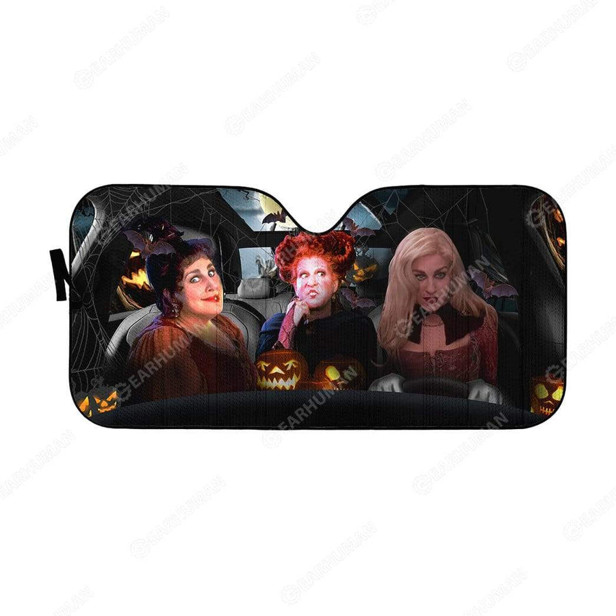 Custom Car Auto Sunshade Hocus Pocus