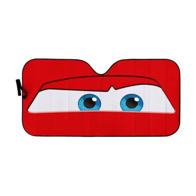 Custom Car Auto Sunshade Lightning McQueen HD-GH1381908-SS Auto Sunshade 57''x27.5''
