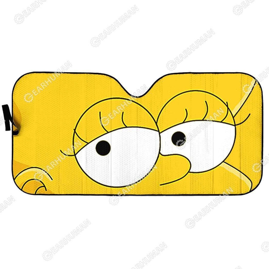 Custom Car Auto Sunshade Lisa Simpson HD-GH1581935-SS Auto Sunshade 57''x27.5''