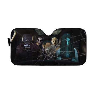 Custom Car Auto Sunshade Mass Murder HD-GH1581946-SS Auto Sunshade 57''x27.5''