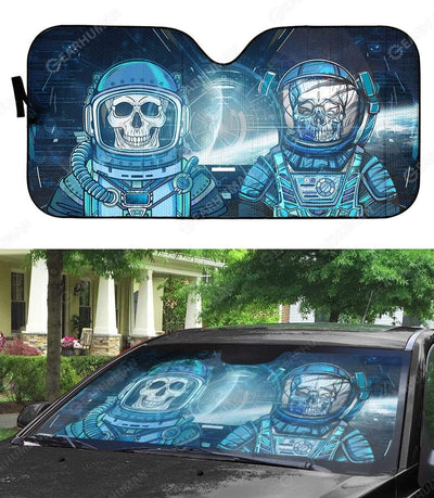Custom Car Auto Sunshade Skull Astronaut In Spaceship HD-DT2181918-SS Auto Sunshade