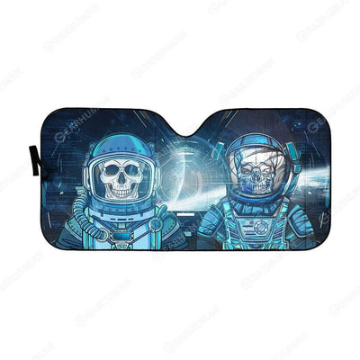 Custom Car Auto Sunshade Skull Astronaut In Spaceship HD-DT2181918-SS Auto Sunshade 57''x27.5''