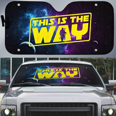 Custom Car Auto Sunshade The Mandalorian This Is The Way MV-DT1001205 Auto Sunshade