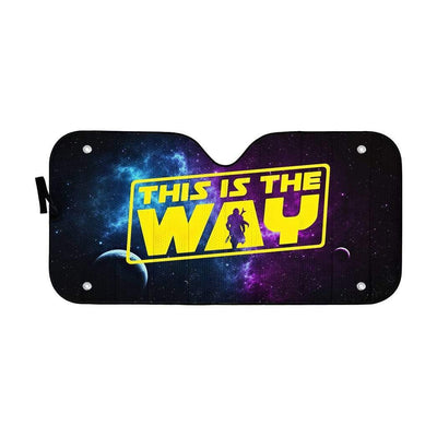 Custom Car Auto Sunshade The Mandalorian This Is The Way MV-DT1001205 Auto Sunshade 57''x27.5''