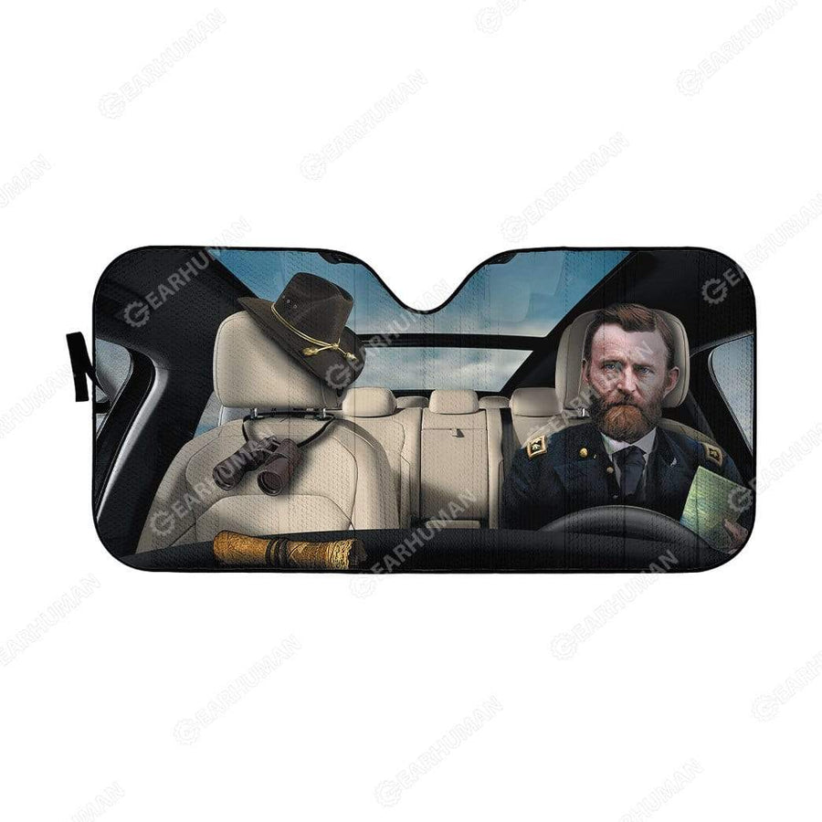 Custom Car Auto Sunshade Ulysses Simpson Grant HD-DT2191906-SS Auto Sunshade 57''x27.5''