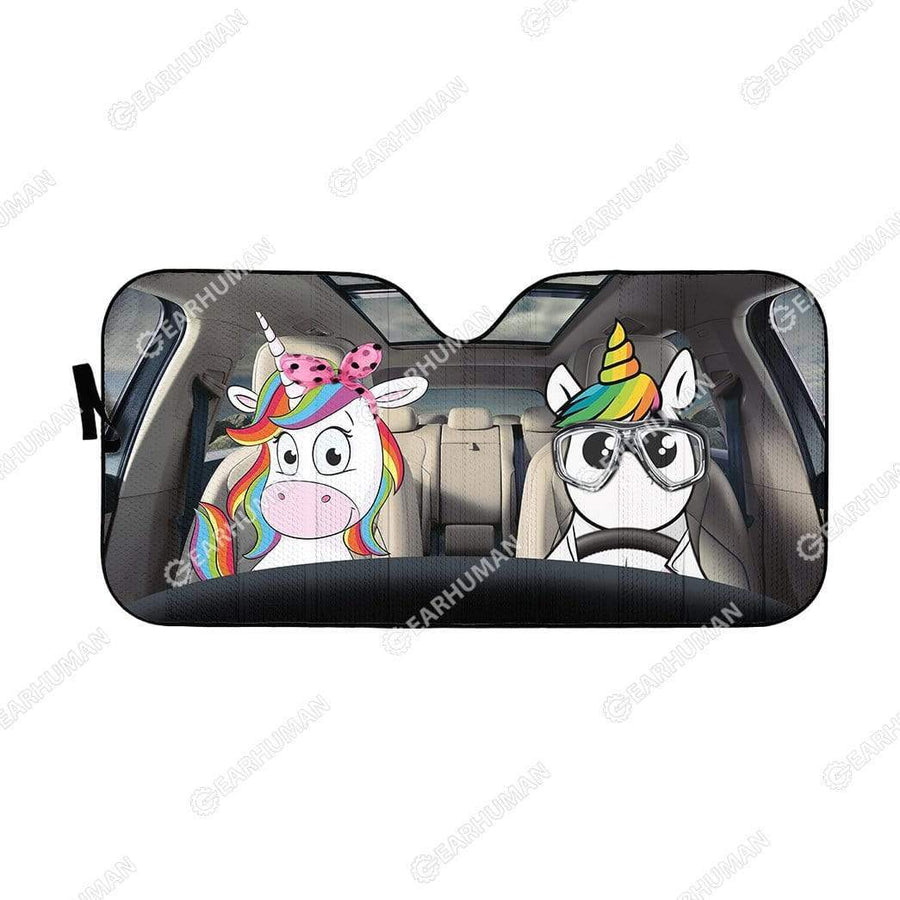 Custom Car Auto Sunshade Unicorn