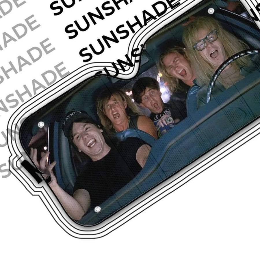 Custom Car Auto Sunshade Wayne's World