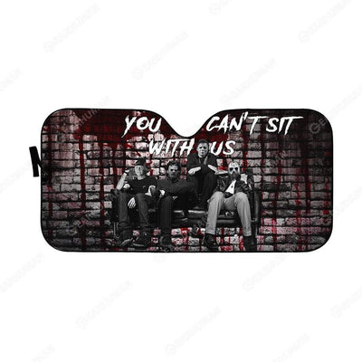 Custom Car Auto Sunshade You Can't Sit With Us HD-DT2181931-SS Auto Sunshade 57''x27.5''
