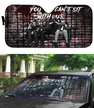Custom Car Auto Sunshade You Can't Sit With Us HD-DT2181931-SS Auto Sunshade