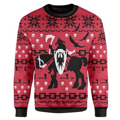 Custom T-shirt - Long Sleeves Ugly Christmas Death Dealer Christmas Sweater Jumper HD-GH20669 Ugly Christmas Sweater