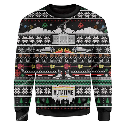 Custom Ugly Back To The Future Christmas Sweater Jumper HD-TA31101905 Ugly Christmas Sweater