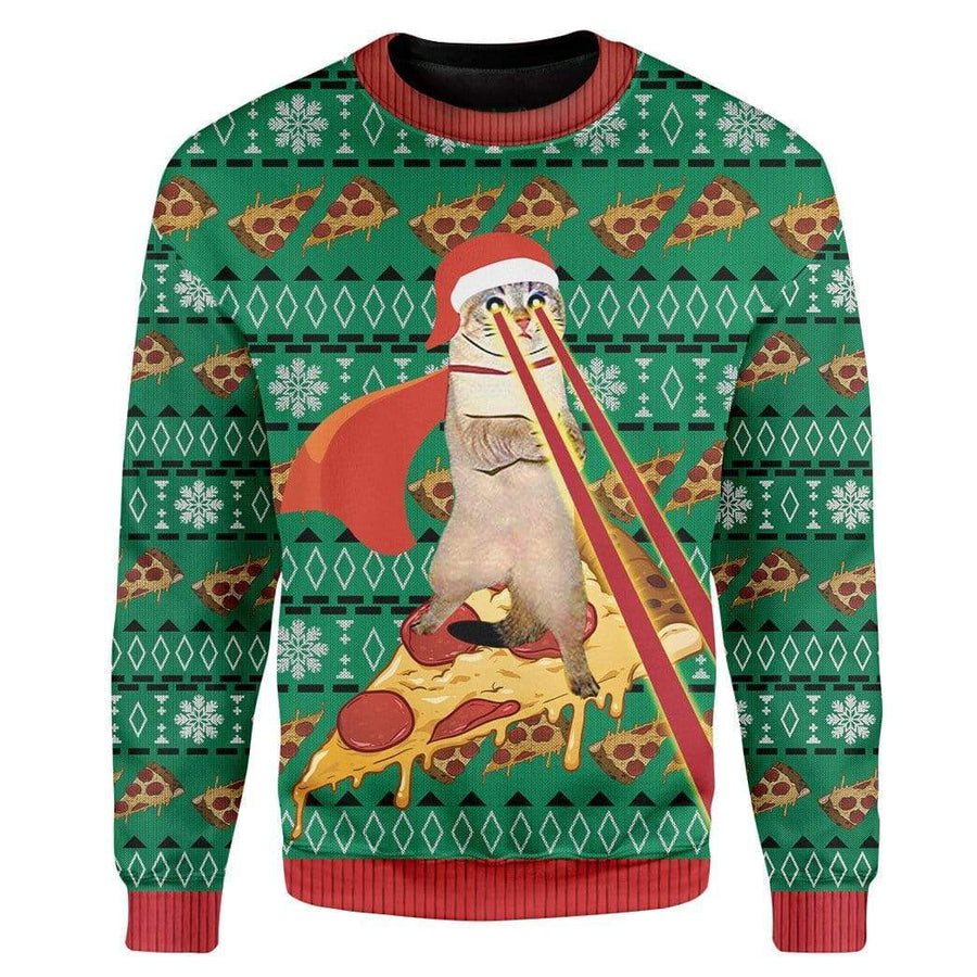 Custom Ugly Cat Christmas Sweater Jumper