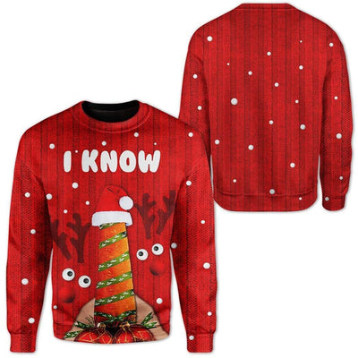 Custom Ugly Christmas I Know Sweater Jumper HD-AT17101913 Ugly Christmas Sweater