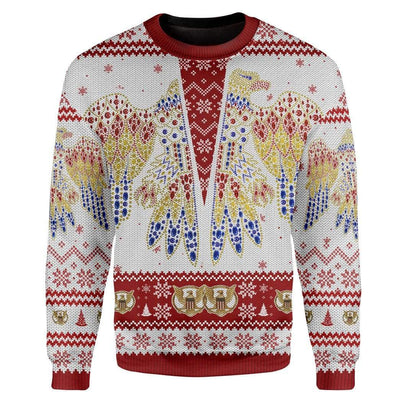 Custom Ugly Elvis Presley Christmas Sweater Jumper HD-GH19101917 Ugly Christmas Sweater