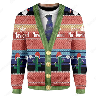 Custom Ugly Feliz Navidad Christmas Sweater Jumper HD-TT1991906 Ugly Christmas Sweater