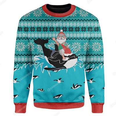 Custom Ugly Santa And Whale Christmas Sweater Jumper HD-TT29101910 Ugly Christmas Sweater