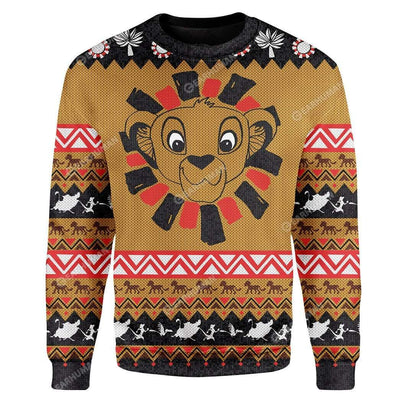 Custom Ugly Simba Christmas Sweater Jumper HD-DT04111912 Ugly Christmas Sweater