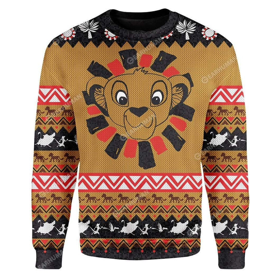 Custom Ugly Simba Christmas Sweater Jumper