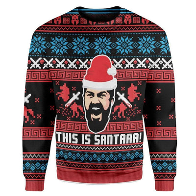 Custom Ugly This Is Sata Christmas Sweater Jumper HD-AT19101918 Ugly Christmas Sweater Long Sleeve S