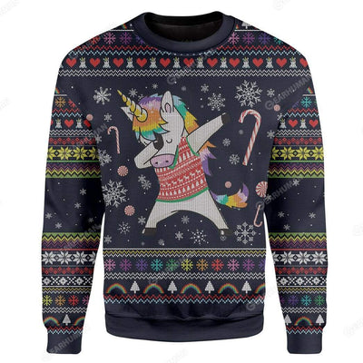 Custom Ugly Unicorn Christmas Sweater Jumper HD-TA24101908 Ugly Christmas Sweater