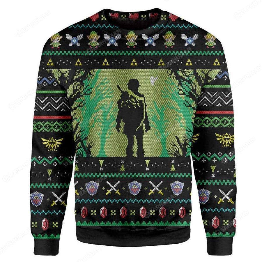 Custom Ugly Zelda Christmas Sweater Jumper