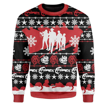 Custom Ugly Zombieland Christmas Sweater Jumper HD-AT28101905 Ugly Christmas Sweater Long Sleeve S