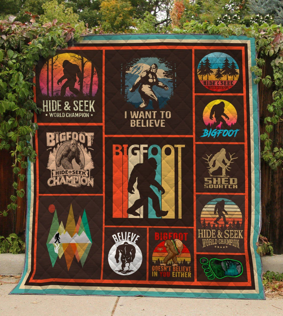Don't Stop Believe In Bigfoot Quilt Quilt Quilt