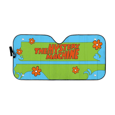 Geahuman 3D The Mystery Machine Custom Car Auto Sunshade GW20075 Auto Sunshade 57''x27.5''