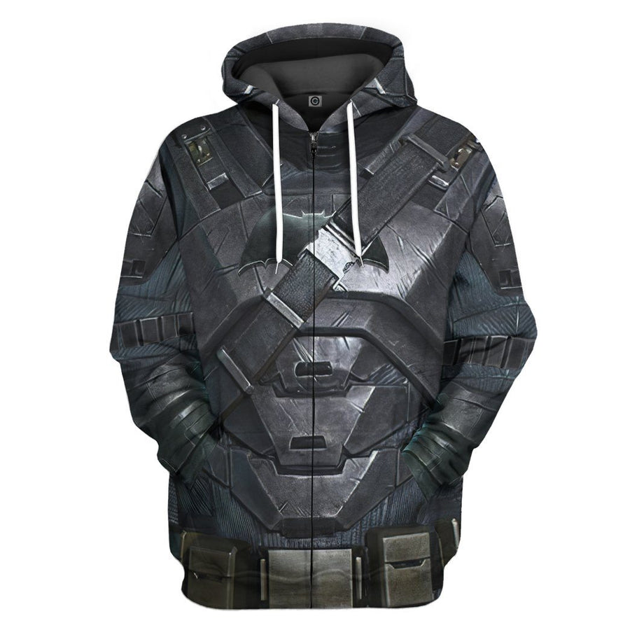 Gearhuman 3D Batman Power Suit Costume Custom Hoodie Apparel GW210813 3D Custom Fleece Hoodies Hoodie S