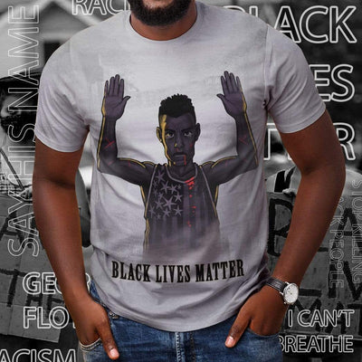 Gearhuman 3D Black Lives Matter Custom T-Shirts Apparel GW28053 3D T-shirt
