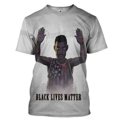 Gearhuman 3D Black Lives Matter Custom T-Shirts Apparel GW28053 3D T-shirt T-Shirt S