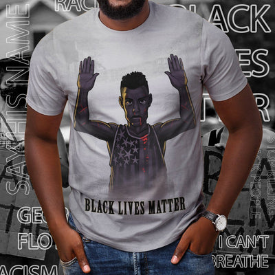 Gearhuman 3D Black Lives Matter Custom Tshirt Apparel GW28053 3D T-shirt